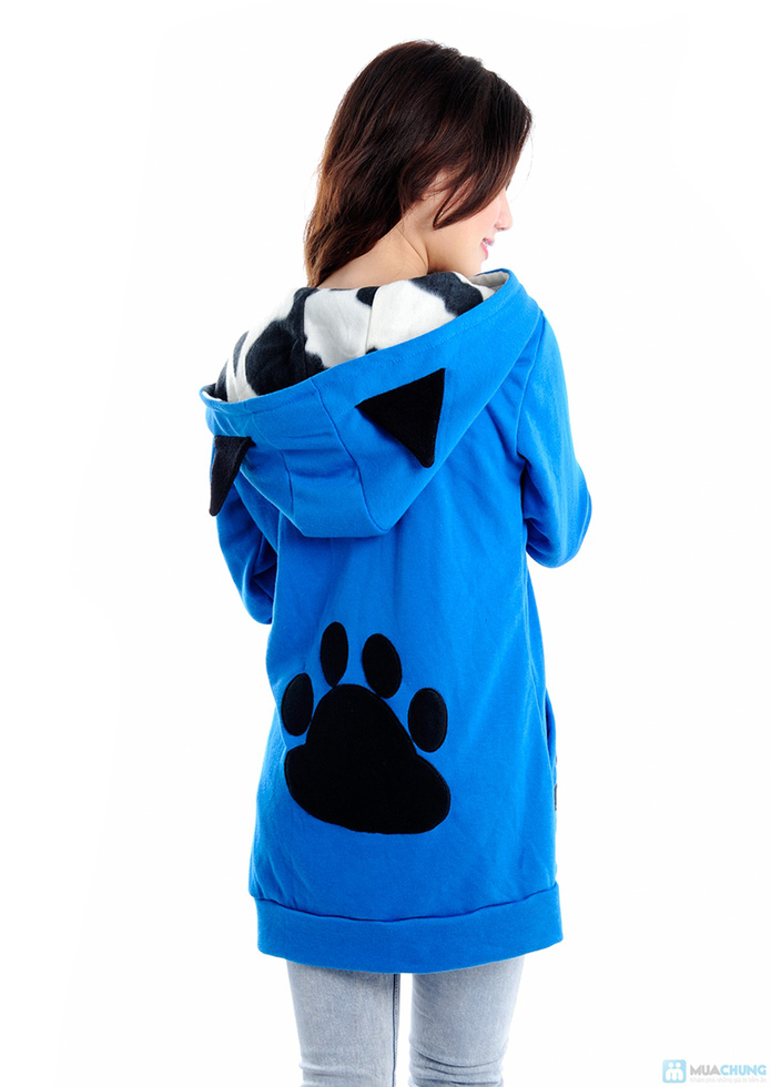 Áo khoác mũ lông, tai gấu - 4