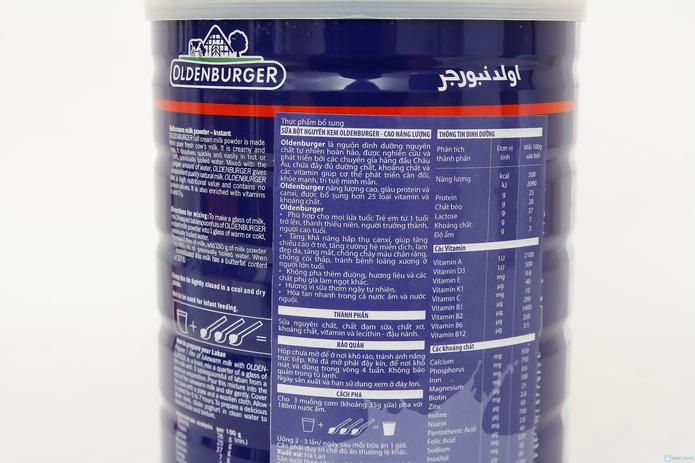 Sữa bột nguyên kem Oldenburger Đức loại 900g - 2