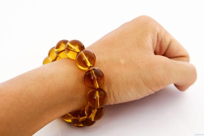 Vòng tay đá thạch anh vàng - 5