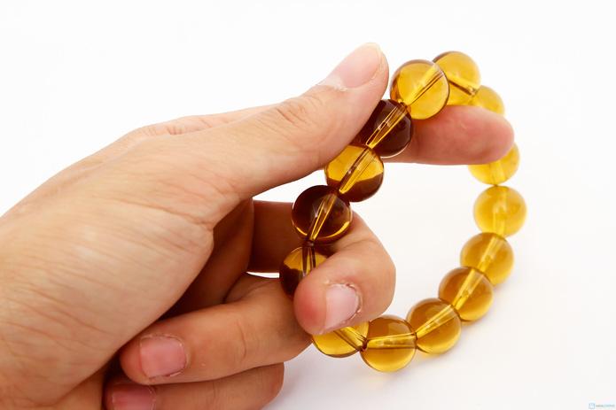 Vòng tay đá thạch anh vàng - 4