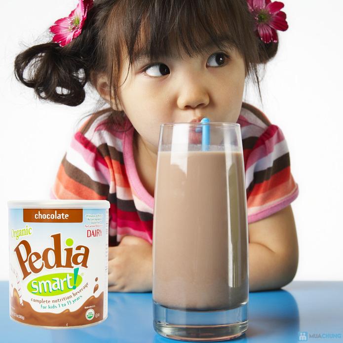 Sữa bột cao dinh dưỡng siêu sạch Organic pedia smart 360g vị chocolate - 1