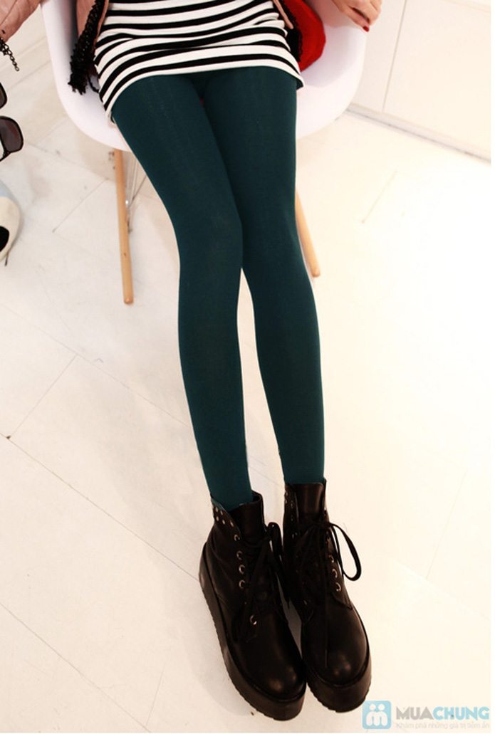 Com bo 2 Quần legging lót nỉ dẫm gót hoặc cổ chân - 7