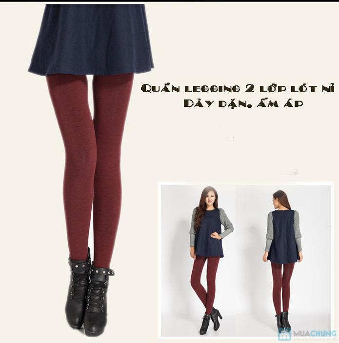 Com bo 2 Quần legging lót nỉ dẫm gót hoặc cổ chân - 10