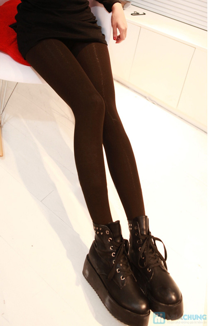 Com bo 2 Quần legging lót nỉ dẫm gót hoặc cổ chân - 5