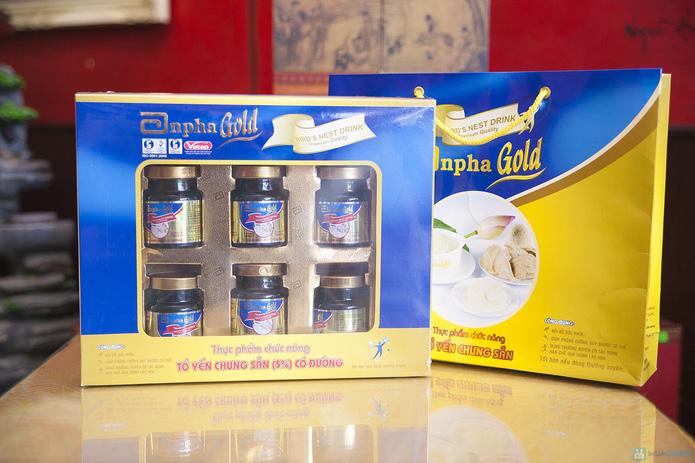1 hộp yến sào Anpha nhân sâm Gold + 1 hộp Anpha Gold đường - 1