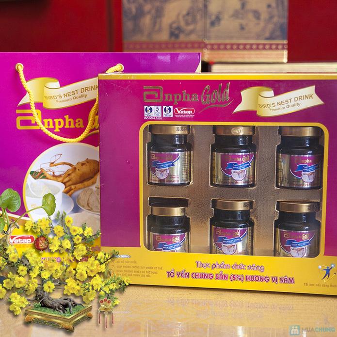 1 hộp yến sào Anpha nhân sâm Gold + 1 hộp Anpha Gold đường - 12