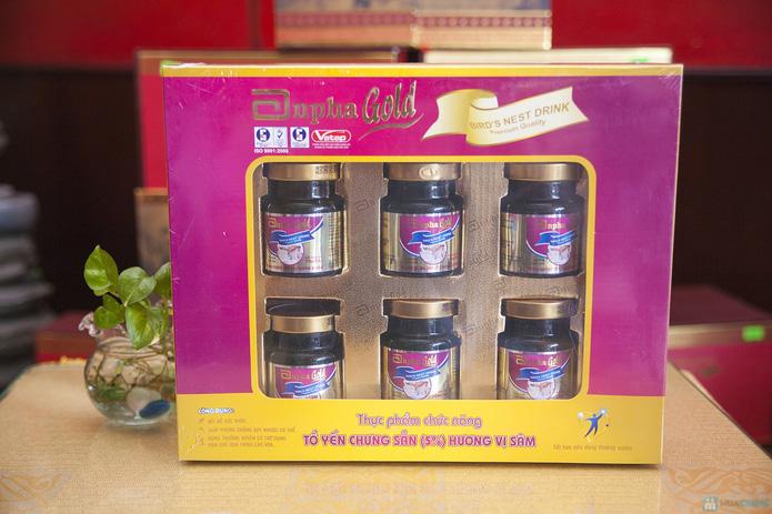 1 hộp yến sào Anpha nhân sâm Gold + 1 hộp Anpha Gold đường - 8