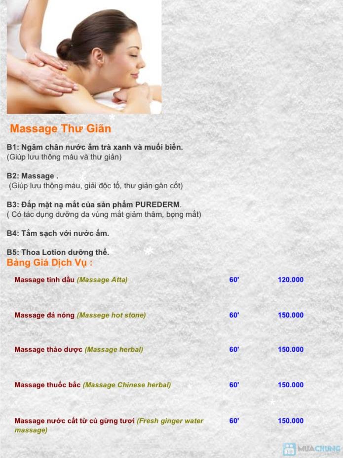 Massage tắm dưỡng thiên nhiên, tẩy tế bào chết - 1