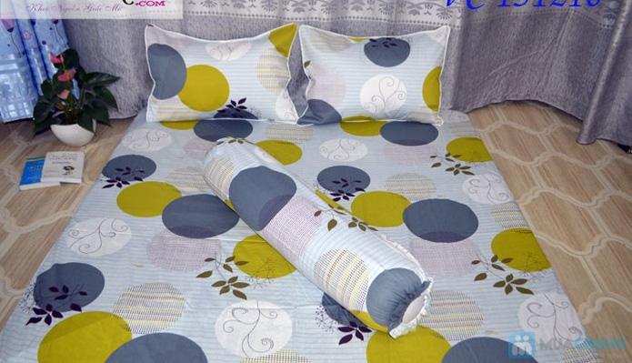 Bộ Drap + vỏ gối cotton Thắng Lợi - 3
