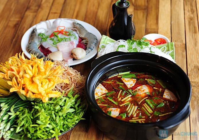 Set ăn: 01 món lẩu + 01 món phụ tự chọn dành cho 2 -3 người tại nhà hàng Bún Và Lẩu V  - 16