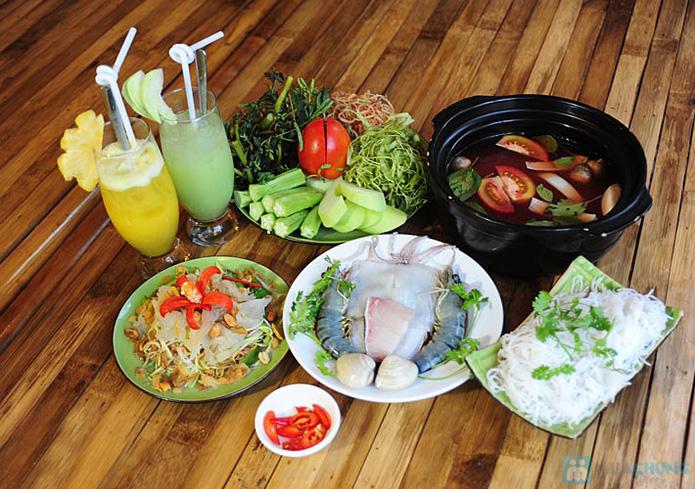 Set ăn: 01 món lẩu + 01 món phụ tự chọn dành cho 2 -3 người tại nhà hàng Bún Và Lẩu V  - 12