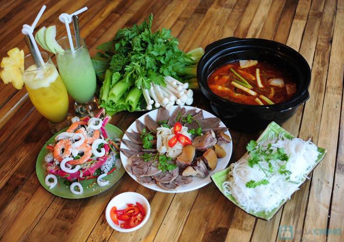 Set ăn: 01 món lẩu + 01 món phụ tự chọn dành cho 2 -3 người tại nhà hàng Bún Và Lẩu V  - 13