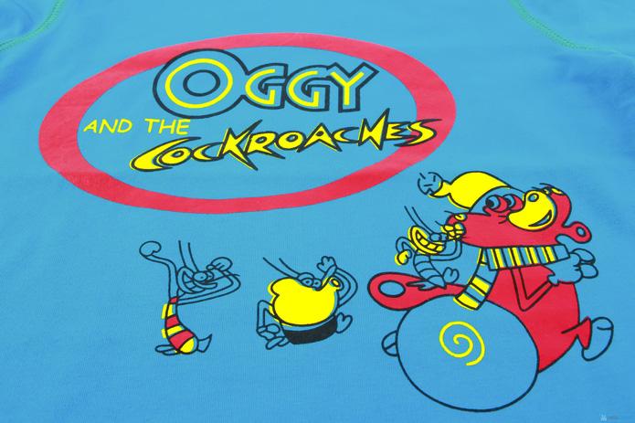 Combo 2 áo cotton cổ lọ mèo Oggy cho bé trai - 6