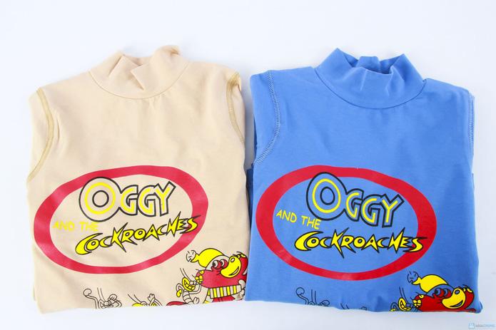 Combo 2 áo cotton cổ lọ mèo Oggy cho bé trai - 10