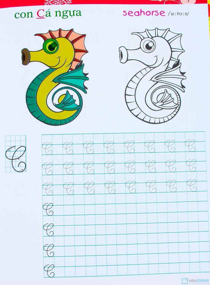 Tập viết chữ đẹp & tô màu (2 tập) + Tập viết chữ đẹp tiếng Anh (4 tập) - 11