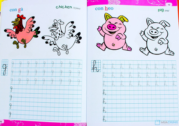 Tập viết chữ đẹp & tô màu (2 tập) + Tập viết chữ đẹp tiếng Anh (4 tập) - 10