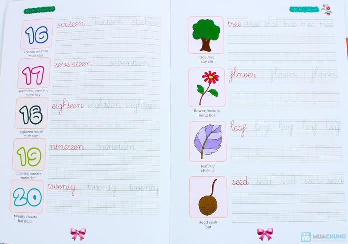 Tập viết chữ đẹp & tô màu (2 tập) + Tập viết chữ đẹp tiếng Anh (4 tập) - 4