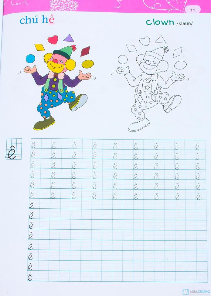 Tập viết chữ đẹp & tô màu (2 tập) + Tập viết chữ đẹp tiếng Anh (4 tập) - 9