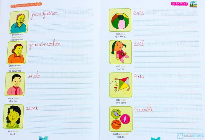 Tập viết chữ đẹp & tô màu (2 tập) + Tập viết chữ đẹp tiếng Anh (4 tập) - 5