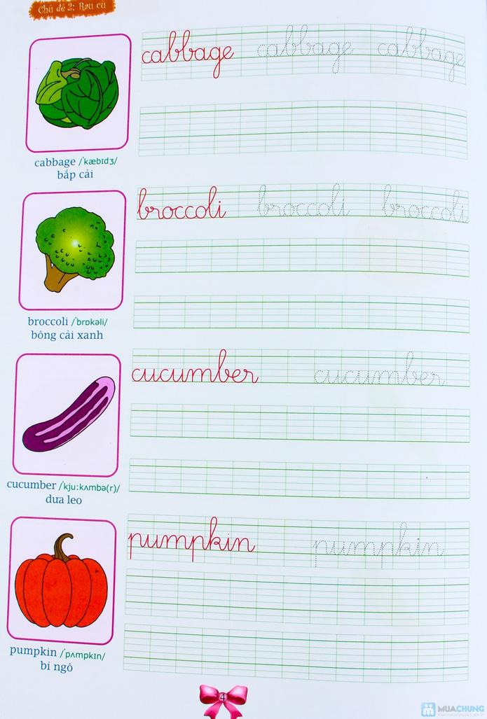 Tập viết chữ đẹp & tô màu (2 tập) + Tập viết chữ đẹp tiếng Anh (4 tập) - 7