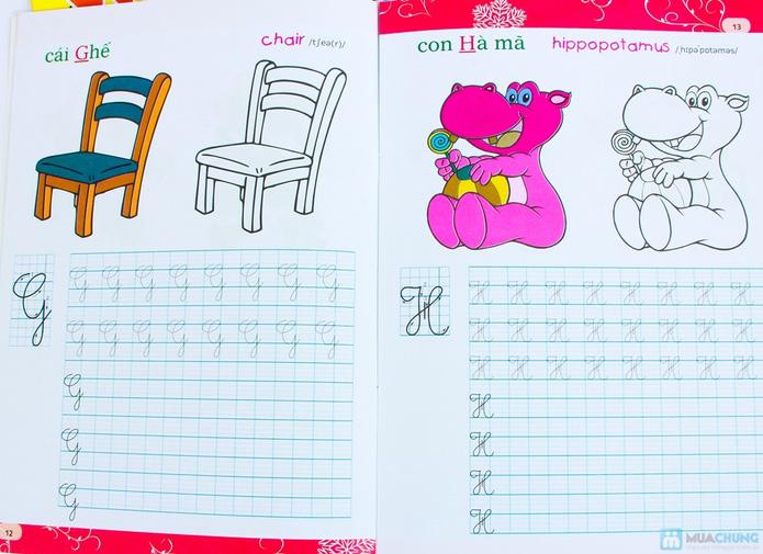 Tập viết chữ đẹp & tô màu (2 tập) + Tập viết chữ đẹp tiếng Anh (4 tập) - 12
