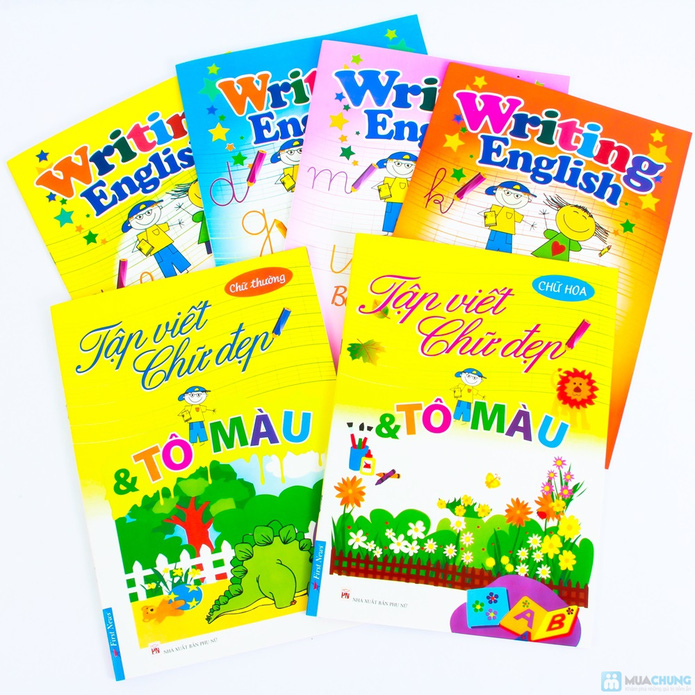 Tập viết chữ đẹp & tô màu (2 tập) + Tập viết chữ đẹp tiếng Anh (4 tập) - 13