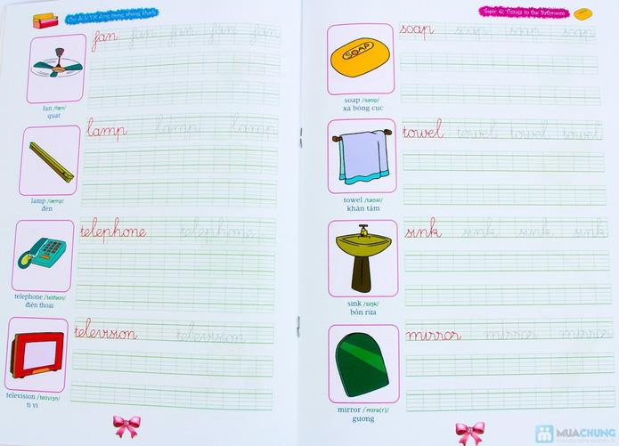 Tập viết chữ đẹp & tô màu (2 tập) + Tập viết chữ đẹp tiếng Anh (4 tập) - 6