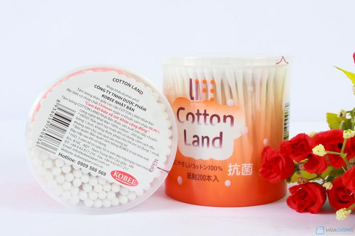 Combo 2 hộp bông ngoáy tai loại to cotton land - 1