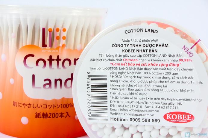 Combo 2 hộp bông ngoáy tai loại to cotton land - 2