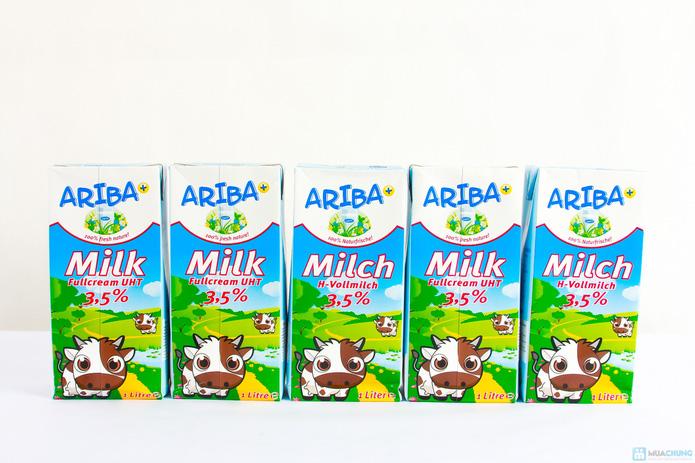 Combo 5 hộp sữa nguyên kem Ariba - 1