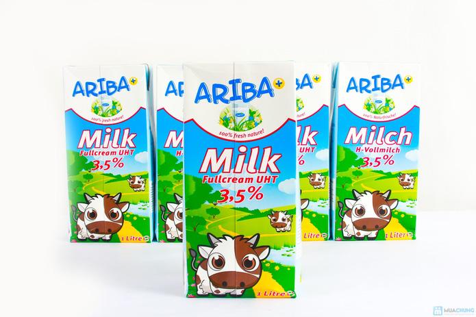 Combo 5 hộp sữa nguyên kem Ariba - 2