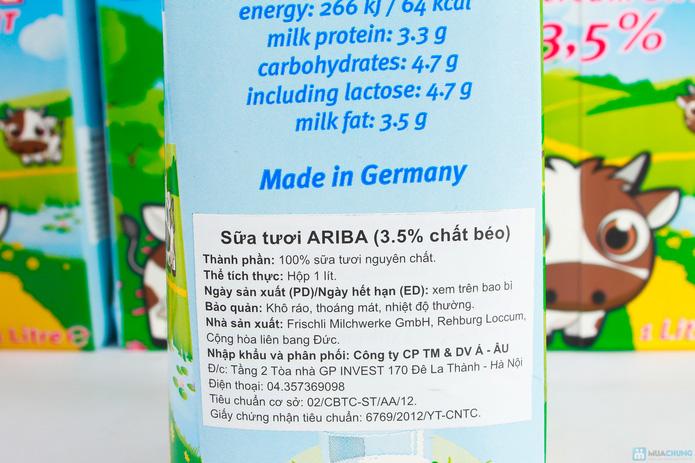 Combo 5 hộp sữa nguyên kem Ariba - 4