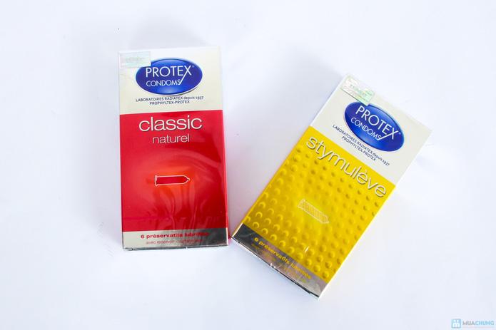combo 2 hộp bao cao su PROTEX ( loại màu vàng +loại màu đỏ ) - 1