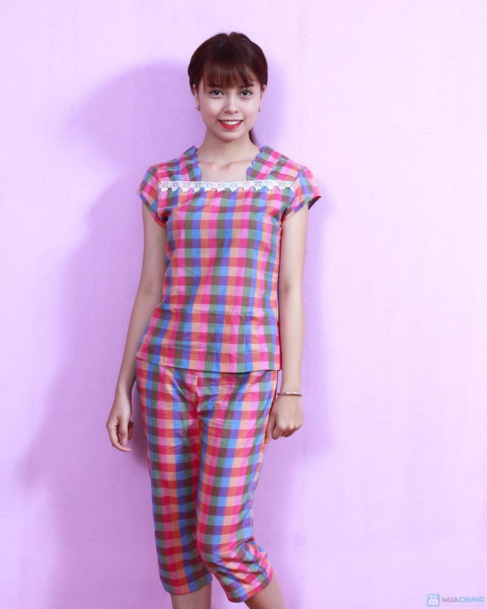 Bộ mặc nhà kẻ caro cá tính - deal Thời trang Nữ giảm 36% | Muachung.