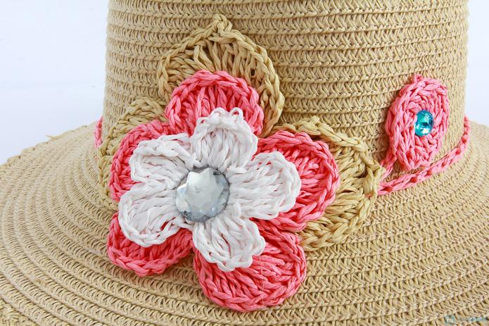 Đón hè với mũ đi biển vành nhỏ đính hoa cói - 4