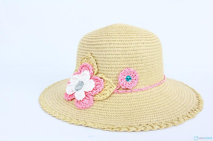 Đón hè với mũ đi biển vành nhỏ đính hoa cói - 3