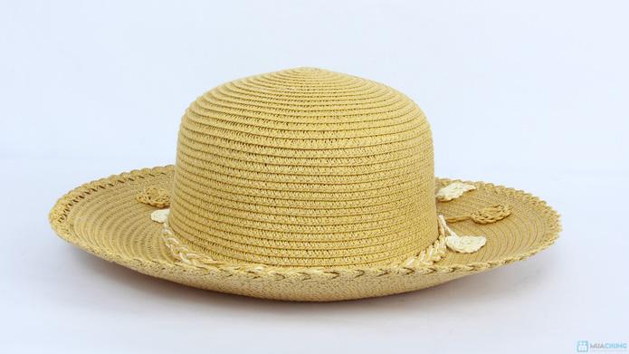 Đón hè với mũ đi biển vành nhỏ đính hoa cói - 9