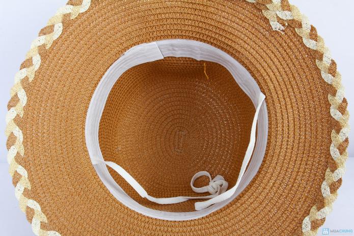 Đón hè với mũ đi biển vành nhỏ đính hoa cói - 7