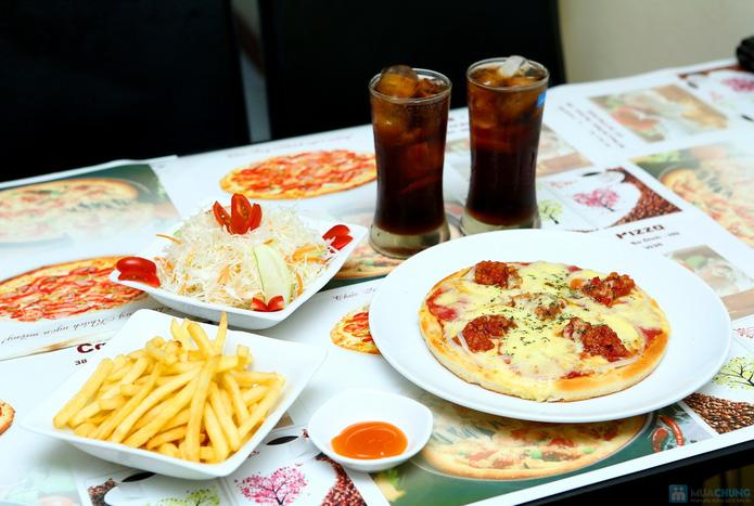 Set pizza đặc biệt kèm khoai chiên, salad, coca - 1