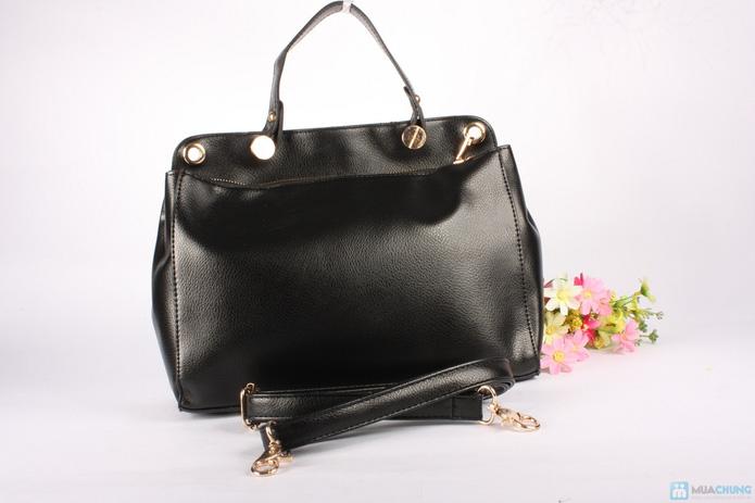 Túi xách da phối nhung sành điệu - 2