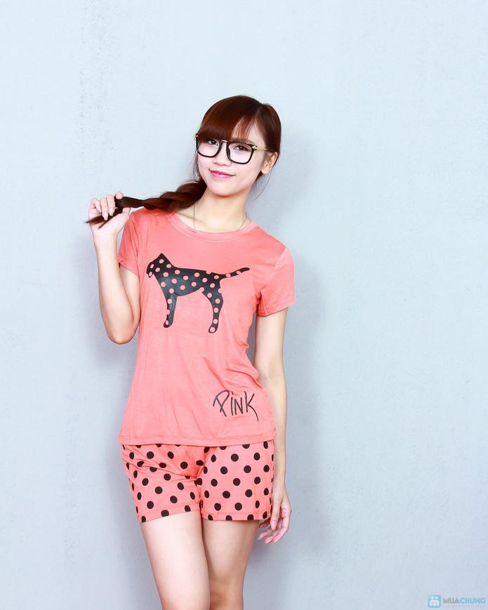 Bộ pink cộc cotton thoáng mát - 9