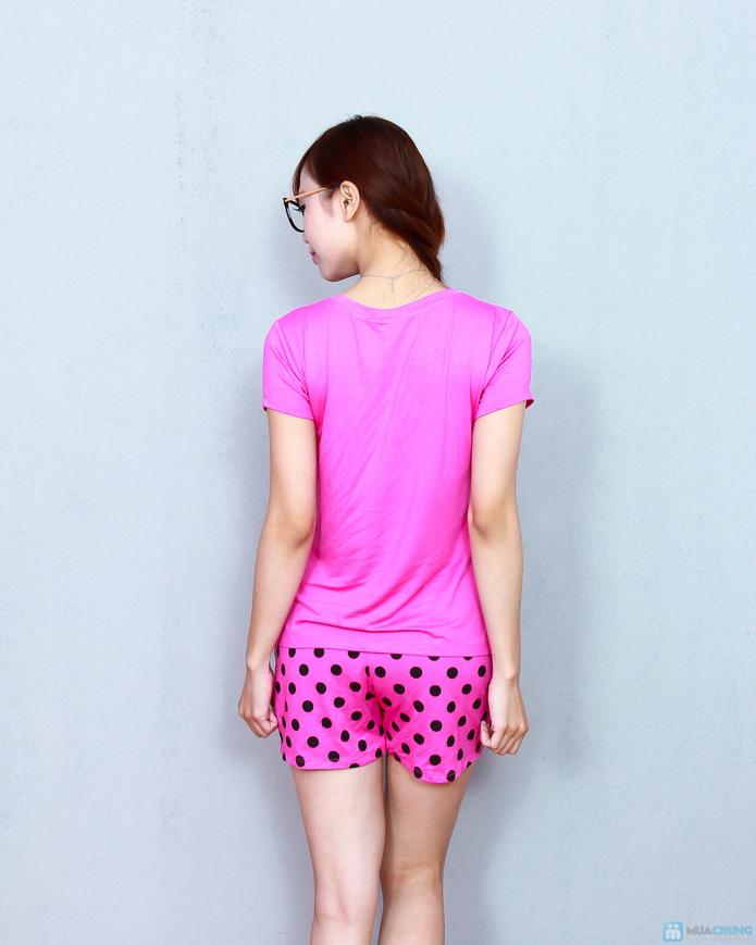 Bộ pink cộc cotton thoáng mát - 3