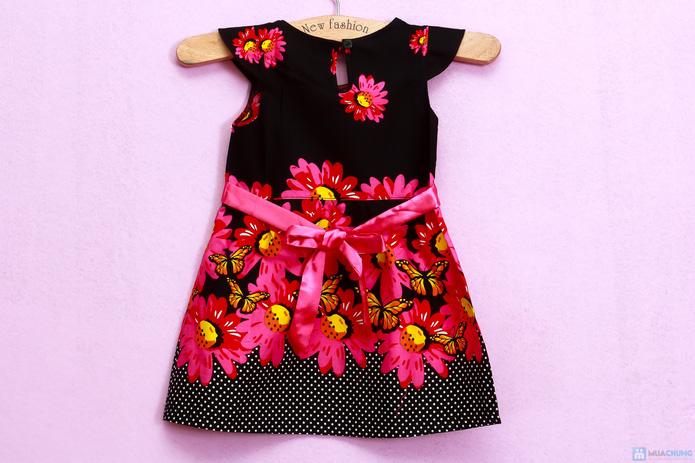 Đầm hoa cotton xinh xắn và điệu đà - 5