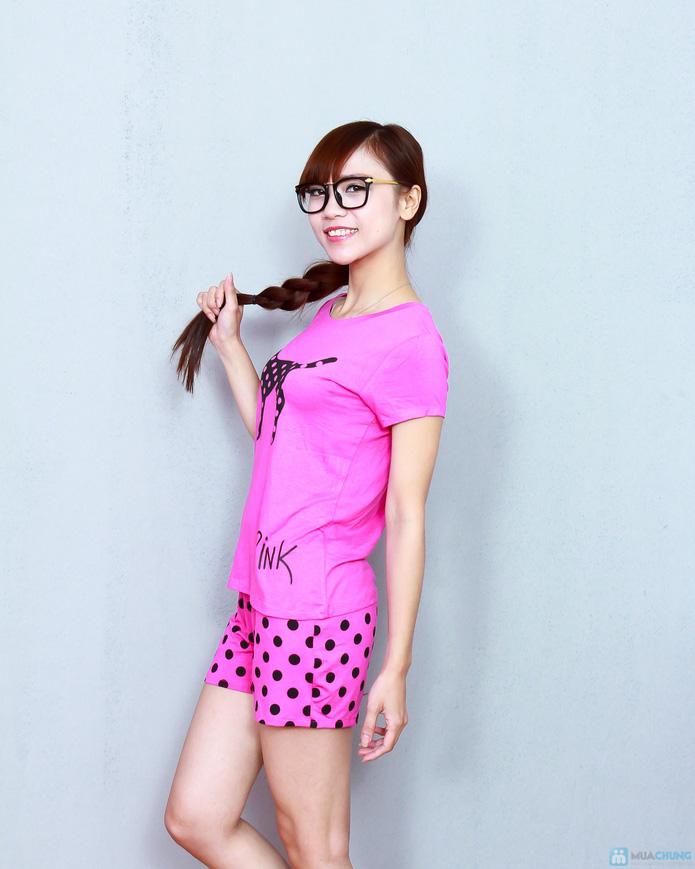 Bộ pink cộc cotton thoáng mát - 2