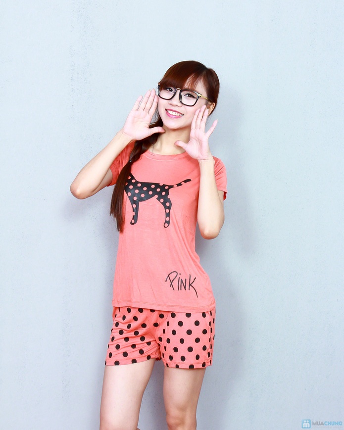 Bộ pink cộc cotton thoáng mát - 6