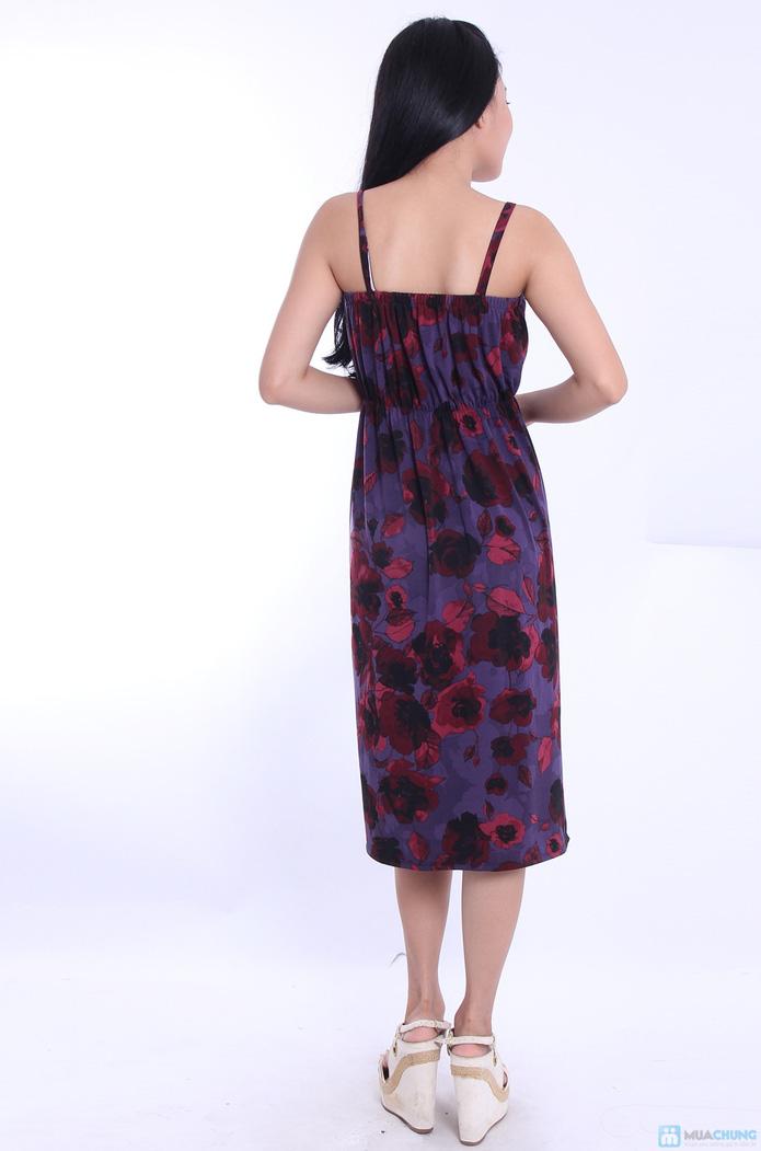 Đầm hoa maxi hai dây - 3