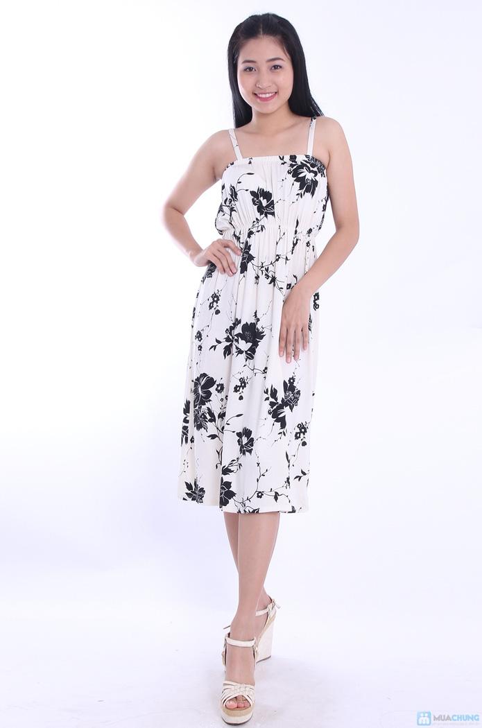 Đầm hoa maxi hai dây - 7