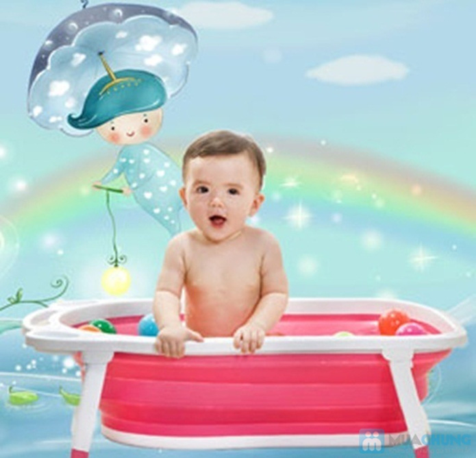 Chậu tắm gấp gọn tiện dụng cho bé yêu - 1