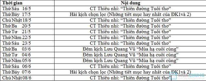 KỊCH HÈ ĐẶC SẮC NGƯỜI LỚN, THIẾU NHI 2014 - 1