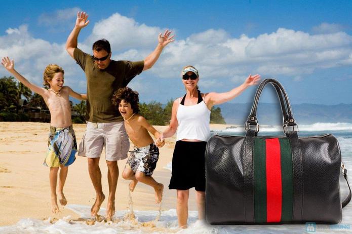 Túi xách du lịch sọc xanh - đỏ - 1